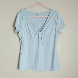 Blue & Lace Tee Shirt